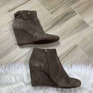 Tory Burch Suede Milan Wedge Bootie Size 8.5